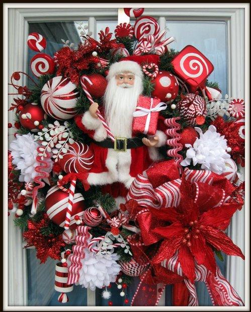 Santa wreath for Christas